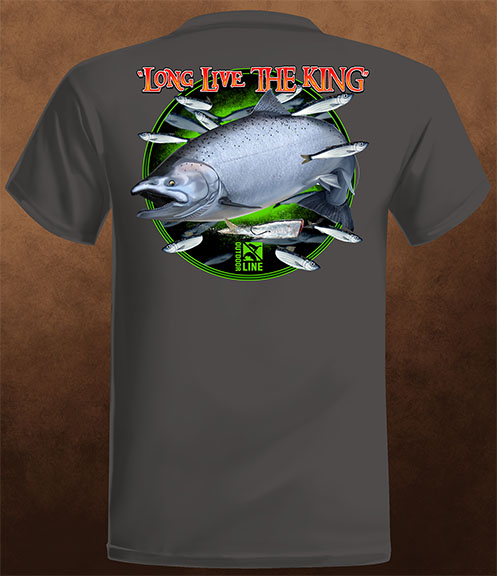 """Long Live The King"" T-Shirt - Weathered Black"