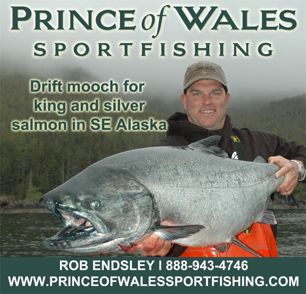Salmon and halibut charters in Craig, Alaska on Prince of Wales Island in Southeast, Alaska operated by Outdoor Line host Rob Endsley